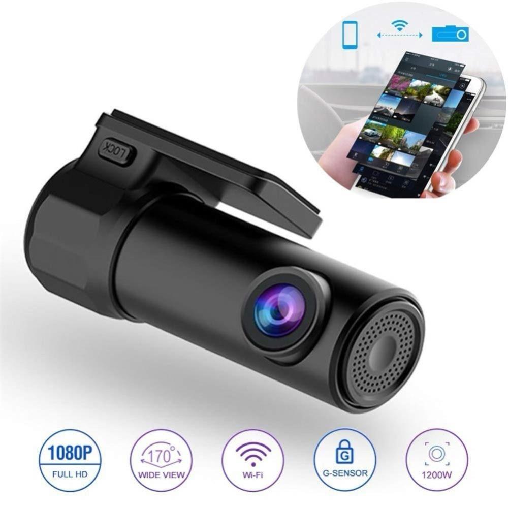Mini Gizli 1080 P Full HD Araç Araba DVR Dash Kam WiFi Kamera 170 Derece Kablosuz Cep Telefonu Bağlantı Oto Registrator