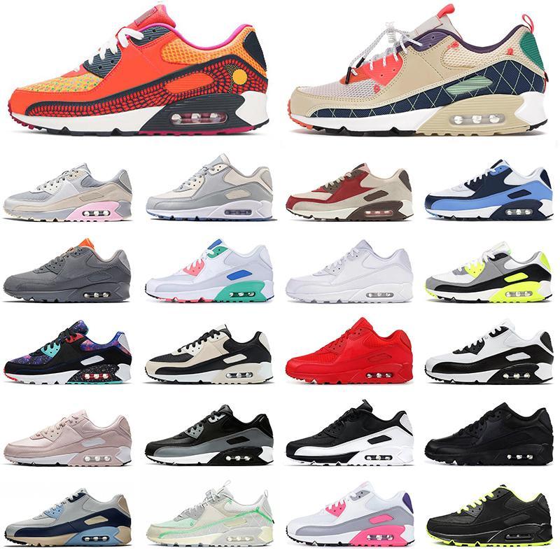 Nike Air Max Airmax 90 Day of the Dead Cool Grey Glasgow Black White Good Green off white 90S احذية رجالية   احذية رياضية رياضية   أحذية