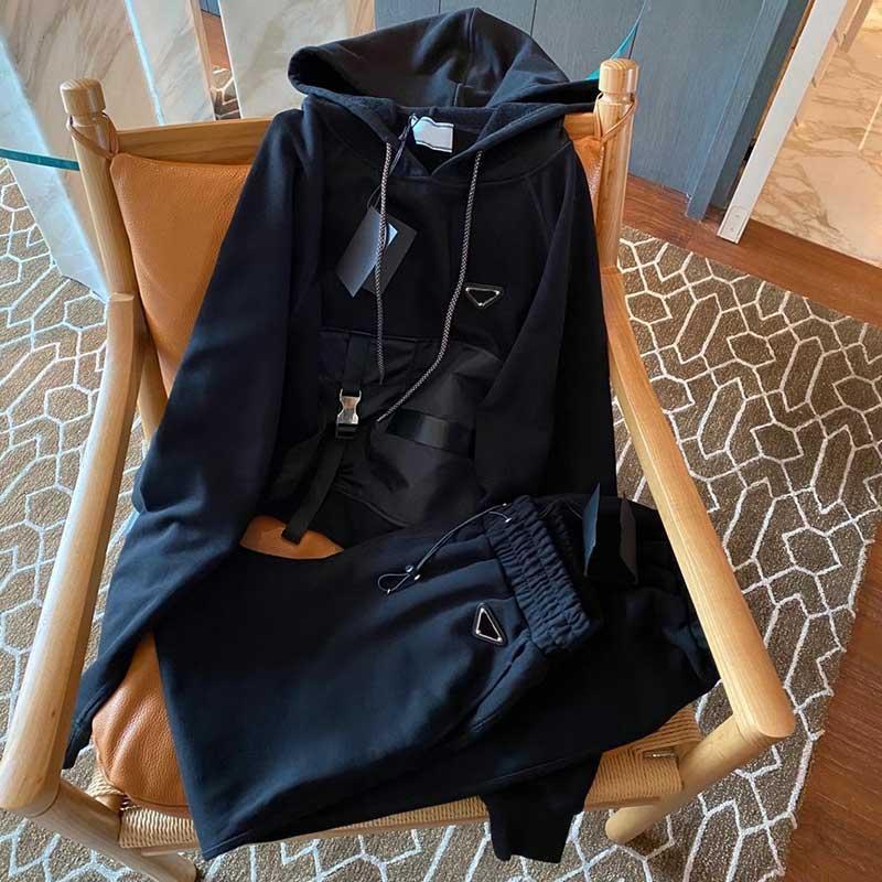 Moda para mujer chándal 21ss mujeres entrenamiento traje estilista causal sudadera con capucha mujeres ropa estilista estilo casual deporte juego largo manga larga s-l