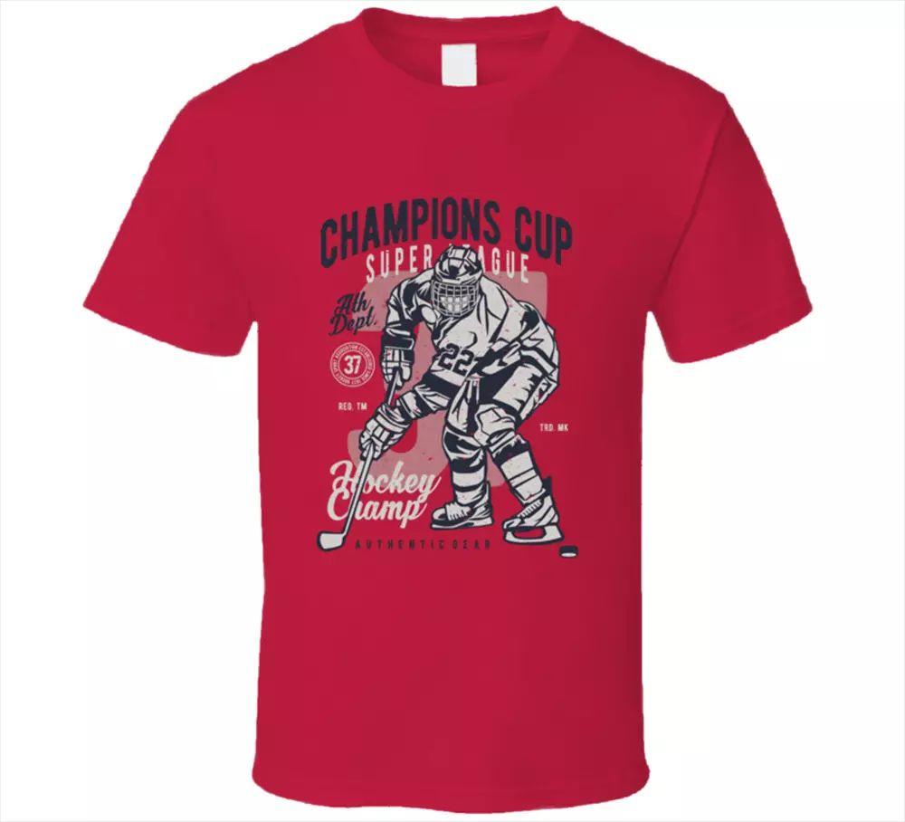 Champion Cup Hockey Vintage Jersey Ducks Hockey Team Logo Sport T-Shirt Neu