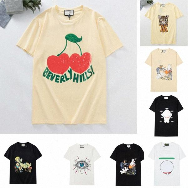 Donners Designer Donners T-shirt magliette Moda stampa stampa manica corta Cat Lady Tees Abbigliamento casual 21SS T-shirt abbigliamento 2021844z #