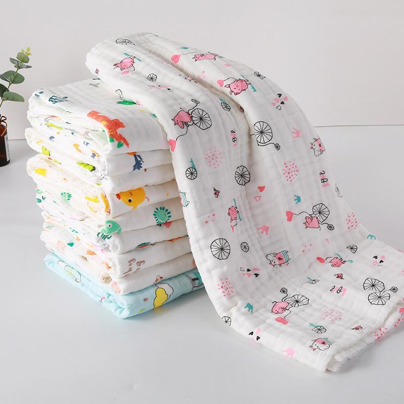 110x110CM 70x140CM 6 слоев Муслин детские одеяла для кроватей Хлопок Бразит одеяло