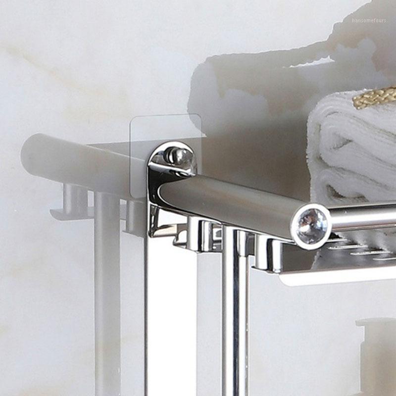 4pcs / 세트 원활한 스티커 투명한 후크 플라스틱 무료 펀칭 부엌 벽 무료 펀칭 접착제 후크 욕실 액세서리 1