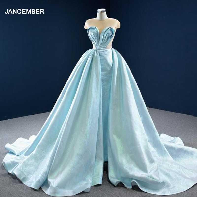 블루 섹시 슬림 투명 레이스 파티 드레스 2021 주름 튜브 탑 백 디자인 드레스