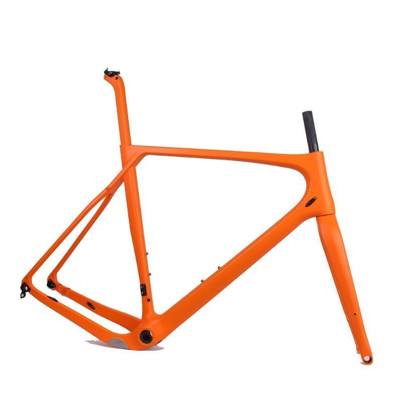 Bisiklet Çerçeveleri 2021 Model Karbon Yolu MTB Çakıl Çerçeve Tam Dahili Kablo Boyutu S / M / L / XL