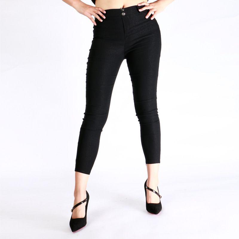 Hot Sexy Women Butt Lift Pants Pantalones Colombianos Brasileño Estilo Elástico Pegamento Pegamento Lápiz Slim Jeans Thin Capris Pantalones