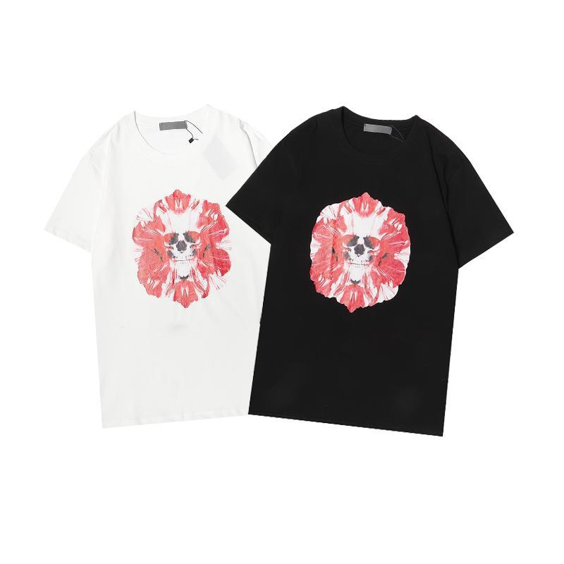 Erkekler Kadın T-Shirt Siyah Beyaz Kısa Kollu T Shirt Nedensel Yaz Tees Hip Hop Tişörtleri Moda Baskılı Streetwear TR003