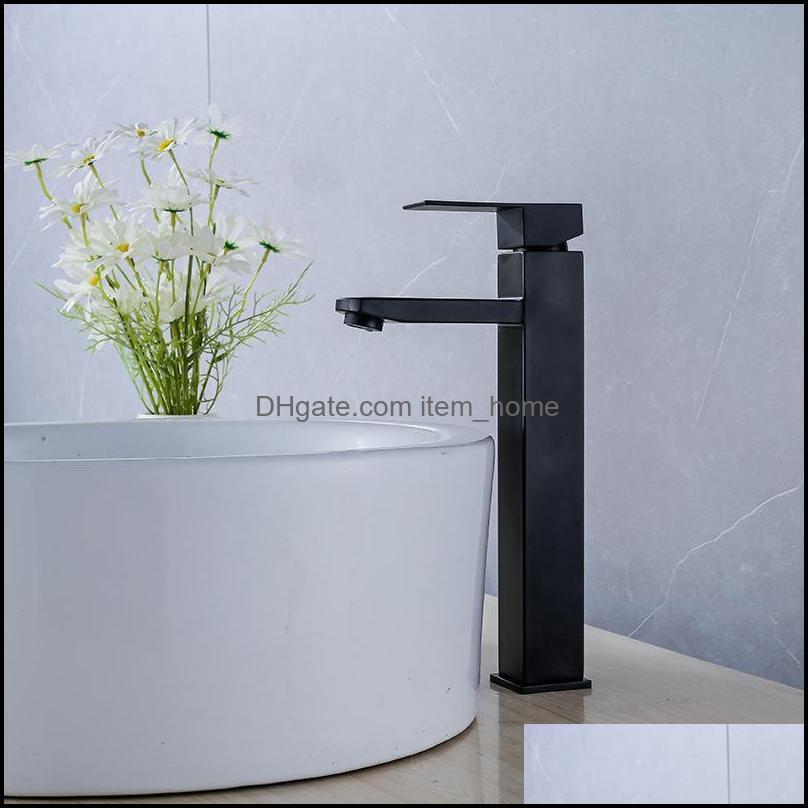 Torneiras, chuveiros como casa Gardenstainless Bacia Bacia Banheiro Aessórios Quadrado Preto Torneira Torneira Torneiras CN (Origem) Gota entregar