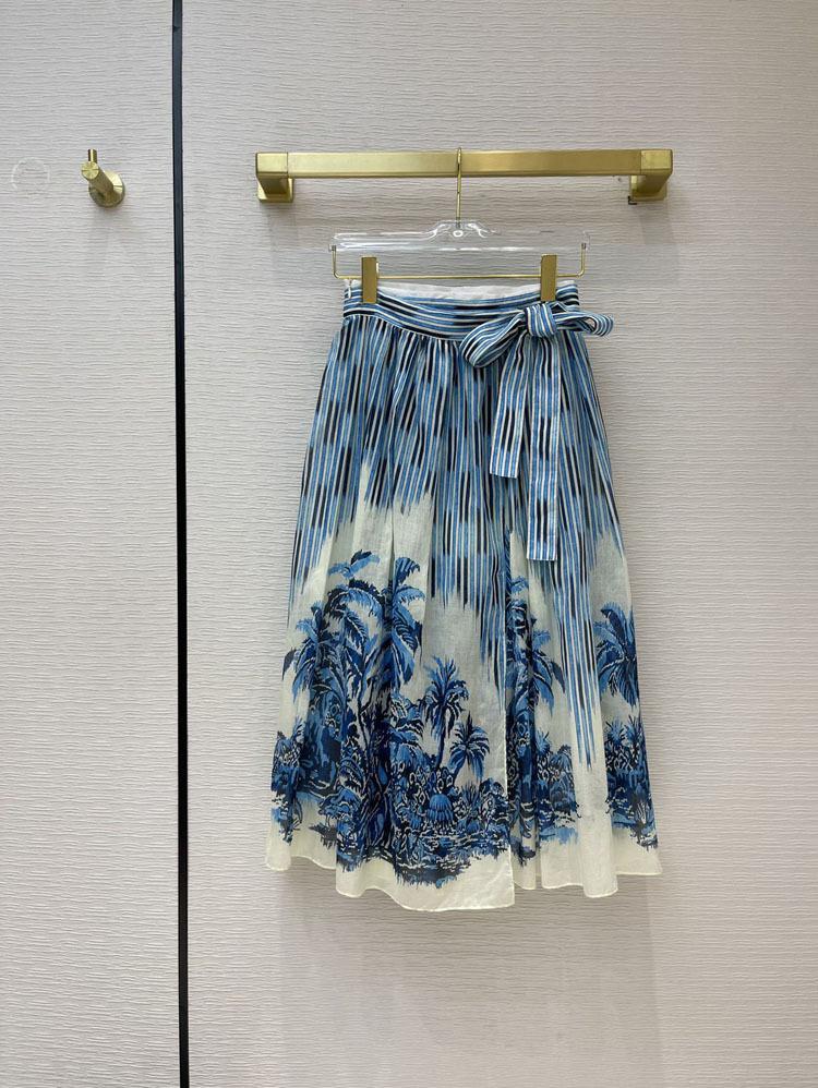 2021 İlkbahar Yaz Sonbahar Milan Tasarımcı Etekler Moda Bir Etek Kadın Marka Aynı Stil Etekler 0330-4