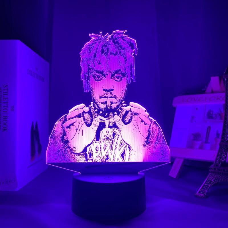 Gece Işıkları 3D Lamba Suyu Wrld Led Işık Ev Dekorasyon için Renkli Nightlight Hediye Hayranları Bırak