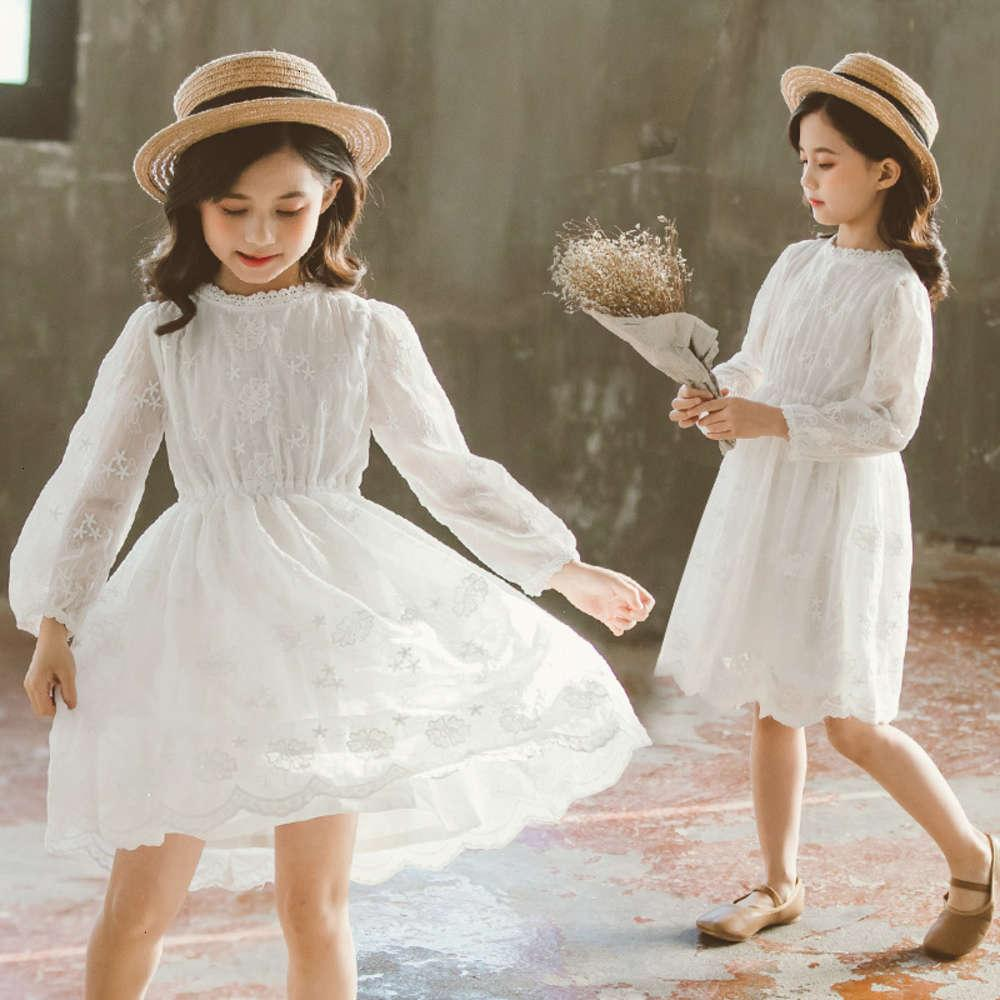 Vestidos de Meninas Shooting FísicoKorean Skirt Children 2021 Flower Lace Drs