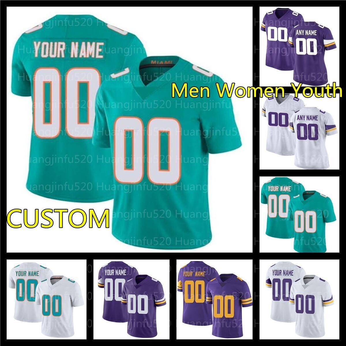 Custom Ryan Fitzpatrick Larry Csonka Andrew Van Ginkel Football D.J. Wonnum Kyle Noy Mike Gesicki Jason Taylor CJ Ham John Randle Jersey
