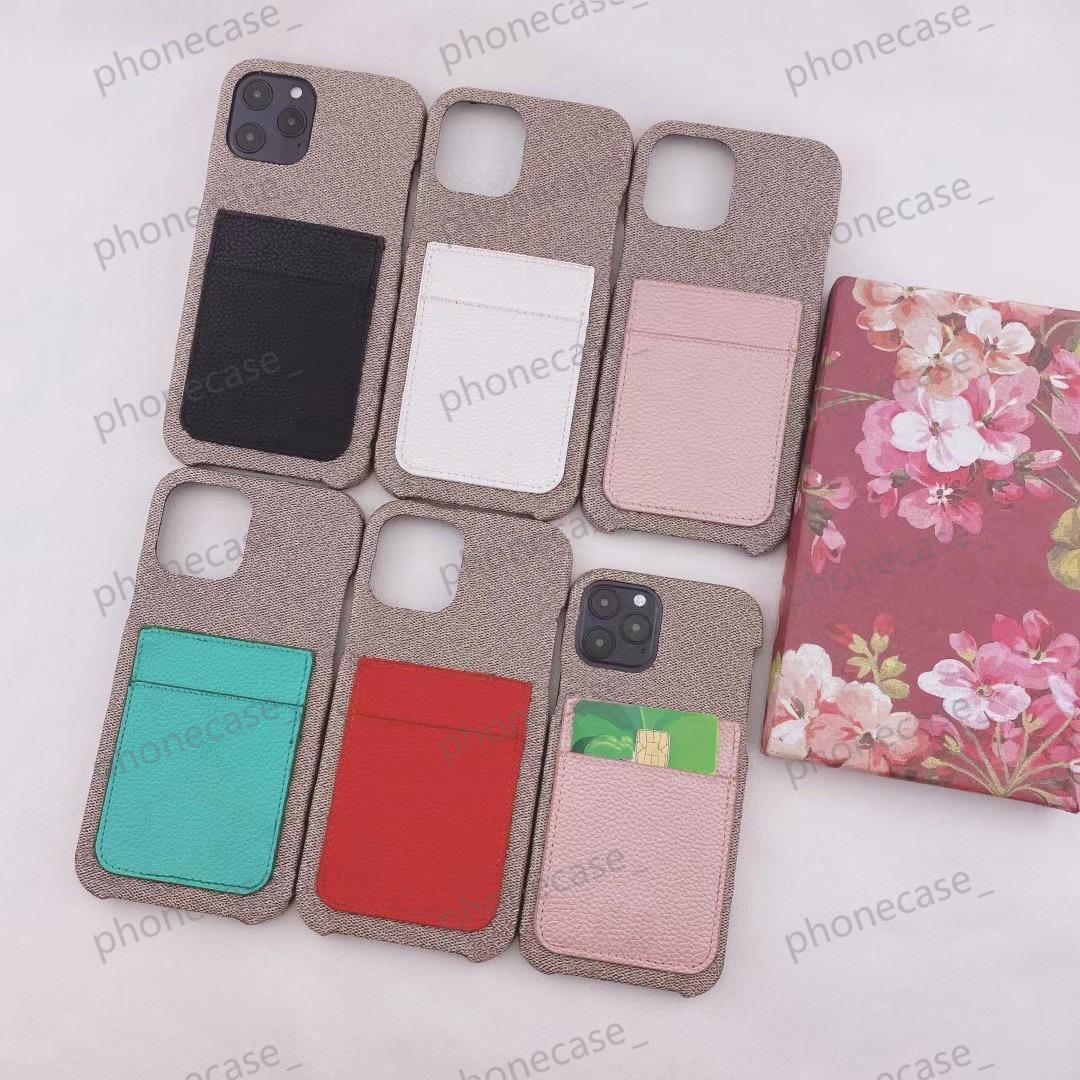 أزياء النسيج مصمم الحالات الهاتف لفون 12 11 برو ماكس XR XS XSMAX 7/8 زائد الكلاسيكية الرجعية جيب بطاقة شل مع مربع