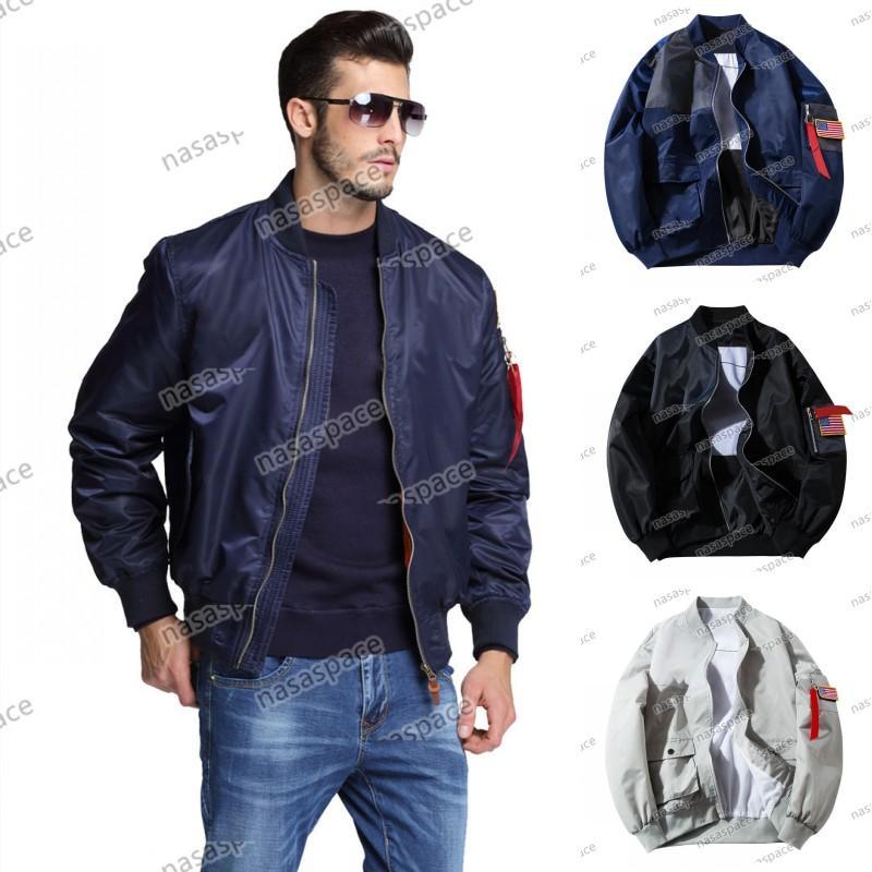 Uomo Giacche Capispalla MA1 Flight Pilot Bomber Giacca Uomo Designer Designer Giacca a vento Baseball Wintercoat Mens Abbigliamento Size S-4XL