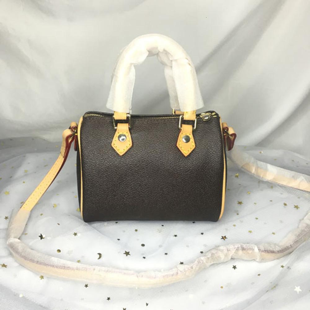 saco qualidade luxurys designers mulheres bolsa moda crossbody 16 cm nano spedy mini ombro clássico lona travesseiro