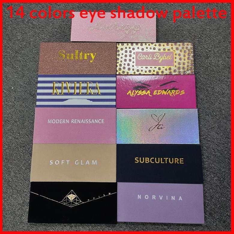 11 estilos paleta de sombra de olho 14 cores limitadas shimmer fosco fosco com pincel somas beleza maquiagem platte dhl
