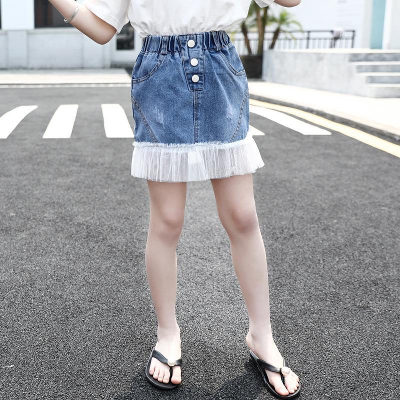 Genç Kızlar Denim Etek 12 yaşında Çocuk Giyim Kız Rahat Etekler