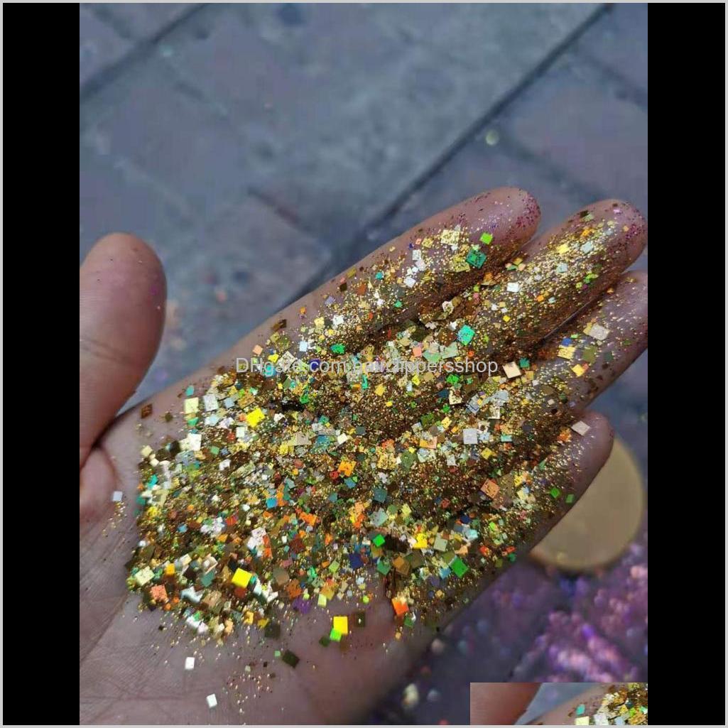 Bulk 1kgbag Laser Glitter Pulver Glänzende Mischgröße Nail Art Glitters Diamant Holographische Pailletten Maniküre Werkzeug 16Color Wähle IEBT0 KV8SG