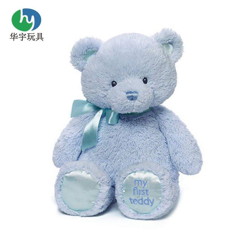 Poupées peluches poupées physiques poupée bleue avec nœud papillon et semelles brodées peuvent être étiquetées jouet ours