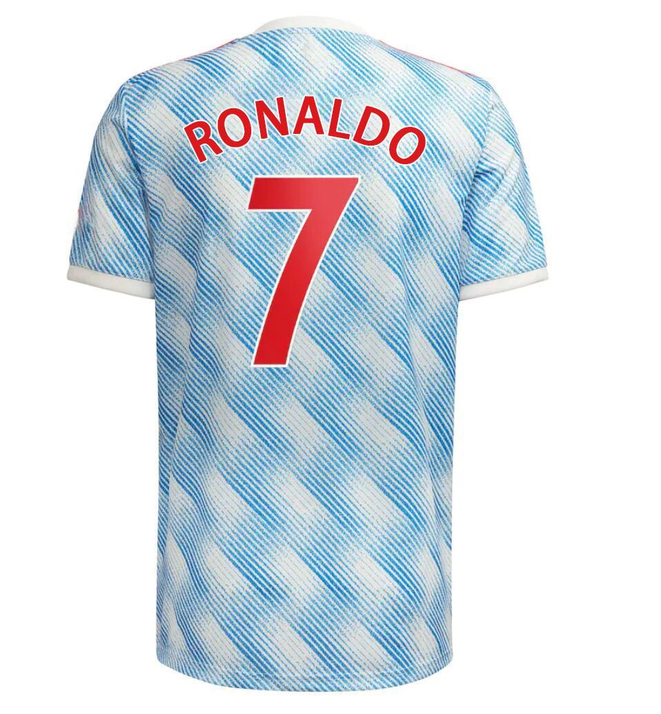7 Cavani Aangepaste Thaise kwaliteit 21-22 34 Van de Beek 18 b.fernandes Rashford 10 Soccer Jerseys Shirt Tops 9 Martial 21 Soccer Jersey