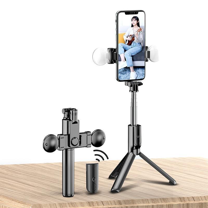 Selfie Monopods Trass Adornos Bluetooth Monopod Stick Control Remoto Clip Teléfono Live Po Holder Trípode Cámara SelfTimer Artifact Rod