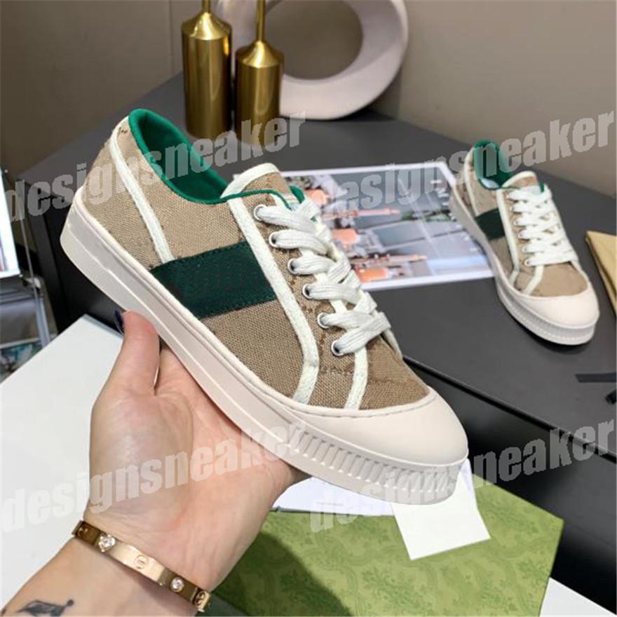 Top Calidad Classic Canvas Hombres Zapatos Casuales Mujer Sneaker Moda Zapatillas De Zapatillas De Cuero Encaje De Cuero Rojo Rayas Verdes
