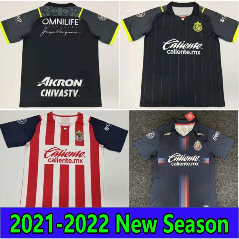 2021 2022 Chrivas Soccer Jerseys 21 22 Liga MX DePortivo Guadalajara E.Lopez A.vevga Macias U.antuna Football Shirt Men Kids Kit موحدة Mailleots de Futol