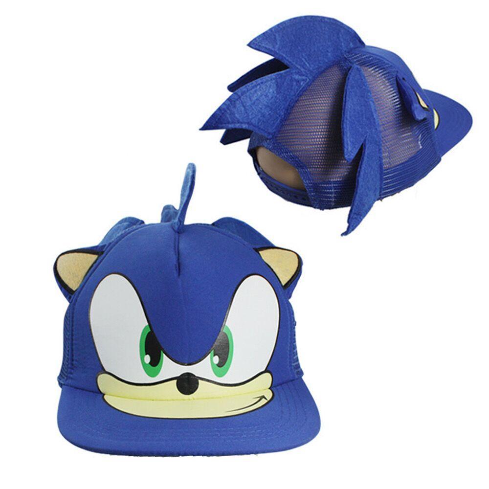 Sombreros Azules Hiphop Cosplay Cospla de dibujos animados plano Moda Sombrero de béisbol ajustable Soporte suave Elástico Shat