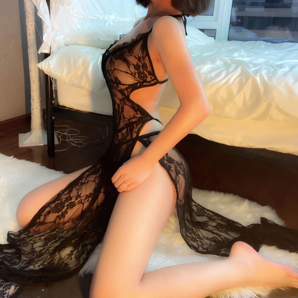 Юбка нижнее белье подвеска кружева длинные сексуальные полые галстуки пижамы ночные носы большие размеры
