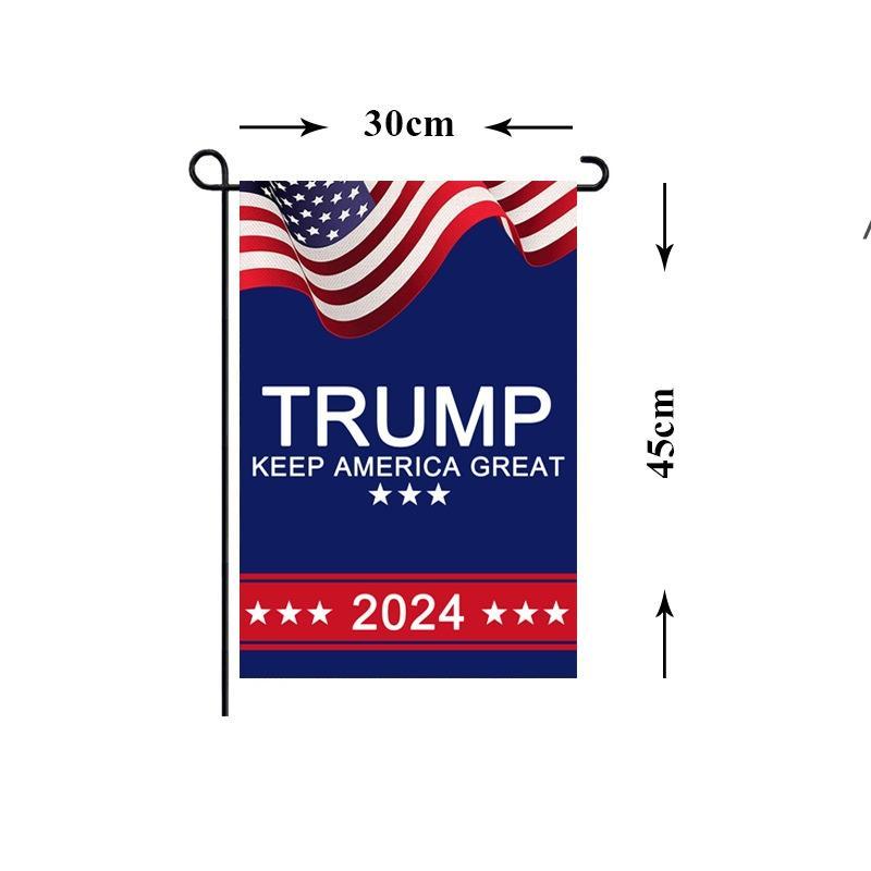President Donald Trump 2024 Flag 30*45cm MAGA Republican USA Flags Anti Biden Never BIDEN Funny Garden Campaign Banner NHB6257