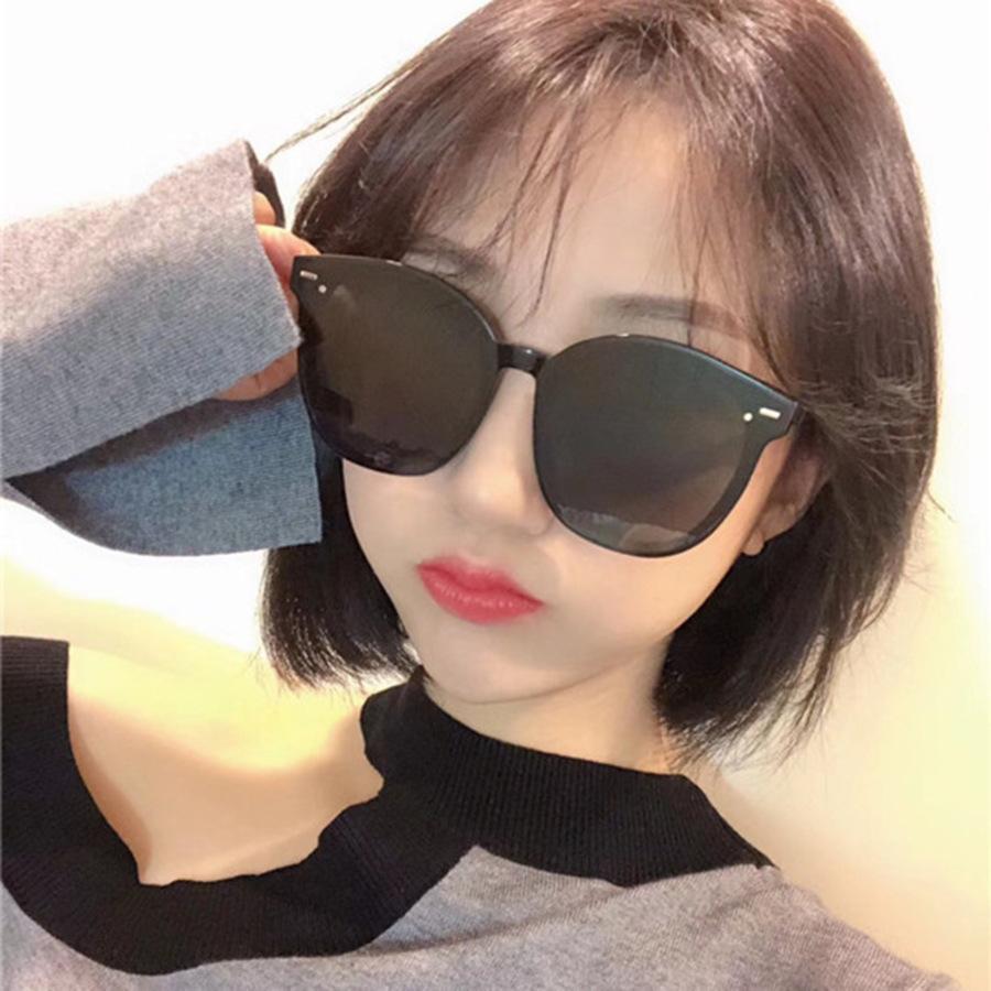 Gran marco Tendencia Sunglasses anti ultravioleta instange al aire libre tinta roja coreana 15999 vjyy