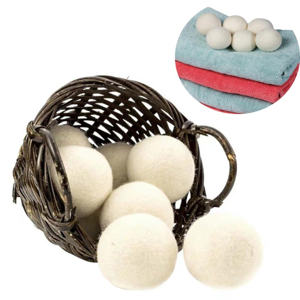 Wool Dryer Balls Laundry Products Premium Reusable Natural Fabric Softener Static Reduces Helps Dry Clothes in Laundrys Quicker