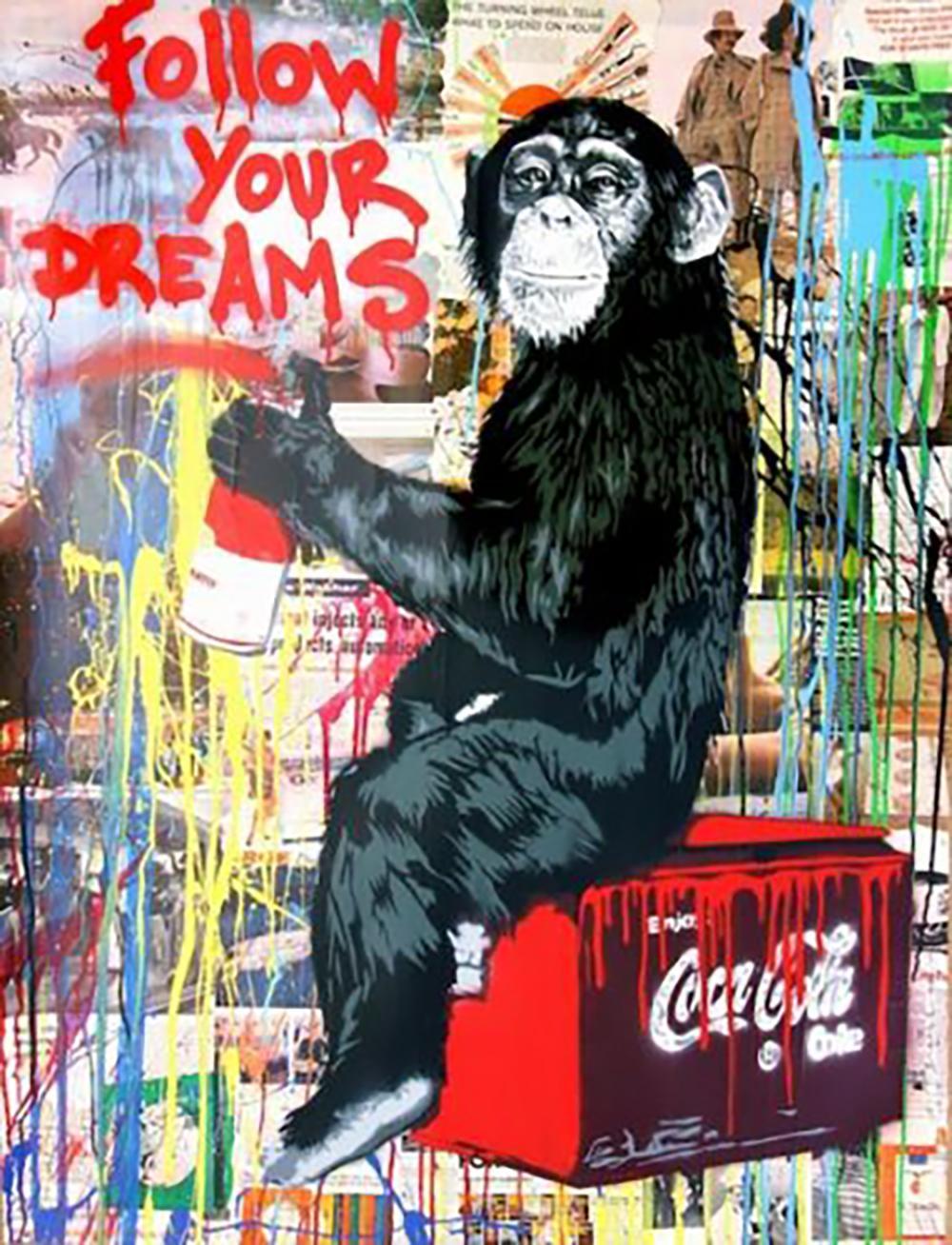 Monkey Pintura al óleo sobre lienzo Decoración para el hogar Handcrafts / HD Print Wall Art Foto de personalización es aceptable 21050805