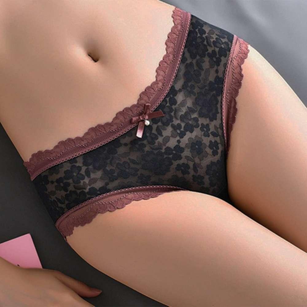 PUIMENTTIUA Nouveaux sous-vêtements Sous-vêtements Soft Print Panties Edge Push Up Short Broek Femmes Inutile Femme Sexy Lingerie