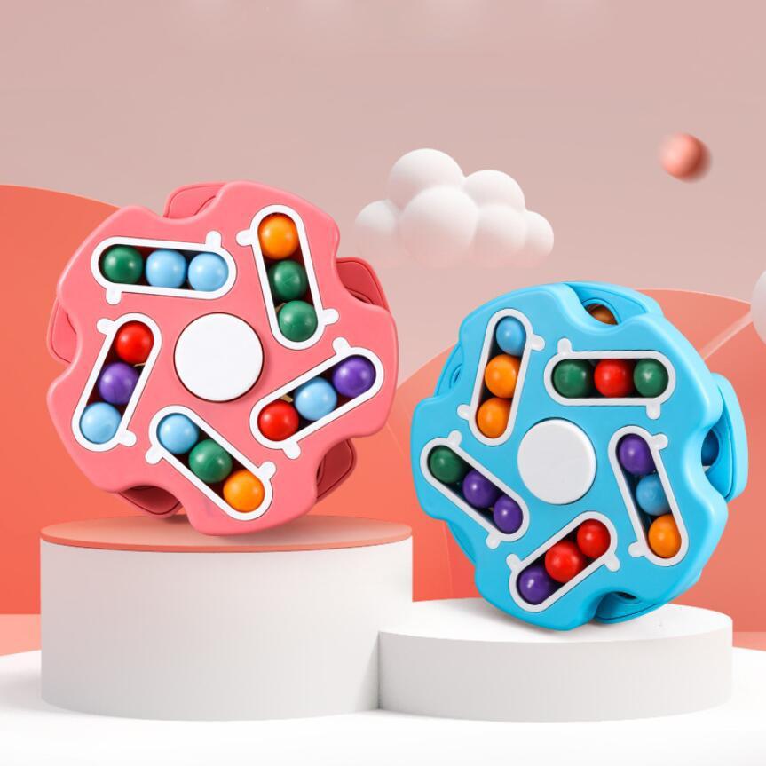 Magic Kids Toy Bean Board Board Cognitive Istruzione rotante perlina gioco Piatto per bambini Cubo Anti stress Giocattoli