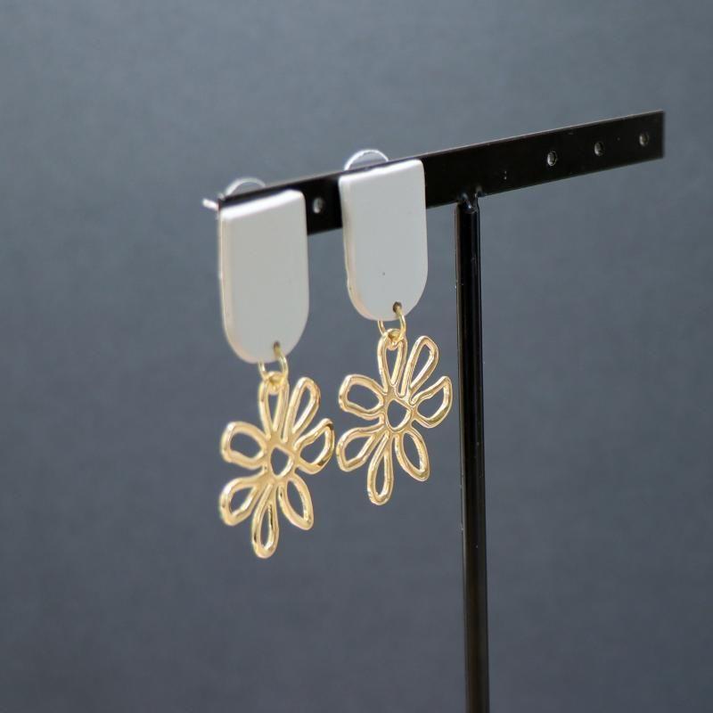 Trend Unusual Sunflower Metal Dangle Polymer Clay Stud Korean Fashion Jewelry Earrings Set For Women Accessories