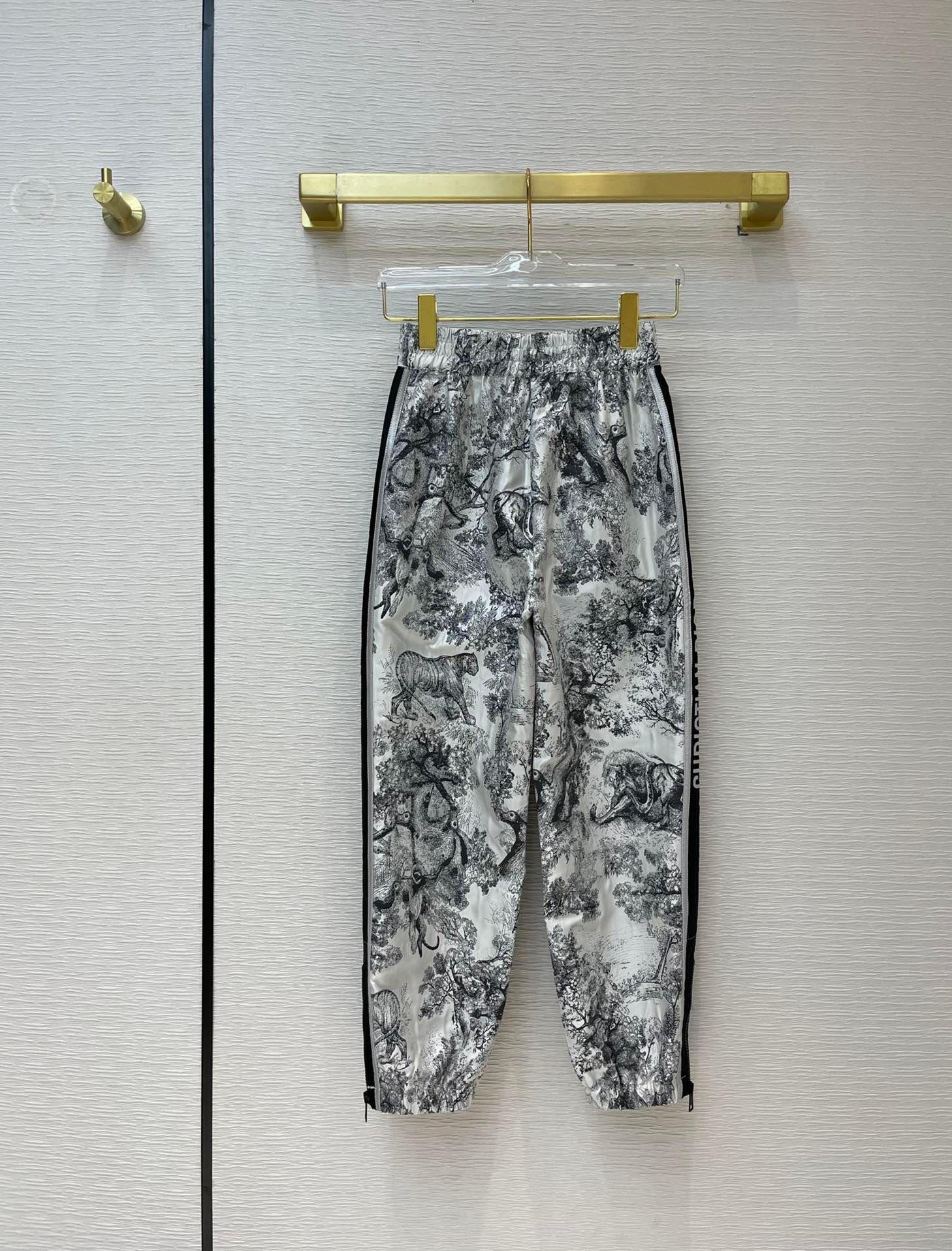 Milan Pist Jeans 2021 İlkbahar Yaz Moda Tasarımcısı Düz Pantolon Marka Aynı Stil Lüks Kadın Pantolon 0331-6