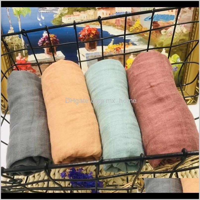 Swaddling berçário bebê crianças maternidade entrega entrega 2021 6060cm 70percent fralda de bambu swaddle Muslin Cobertets qualidade melhor que c