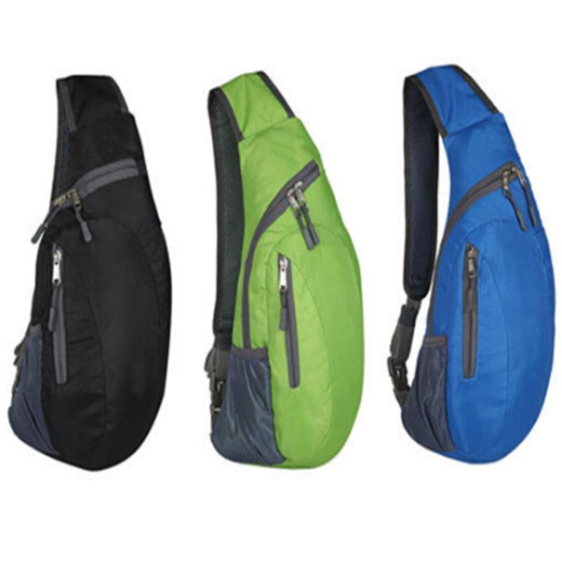 Fashion Solid Mens Sport Shoulder Backpack Cross Body Bag Outdoor Hiking Sling Chest Pack Storage Bags
