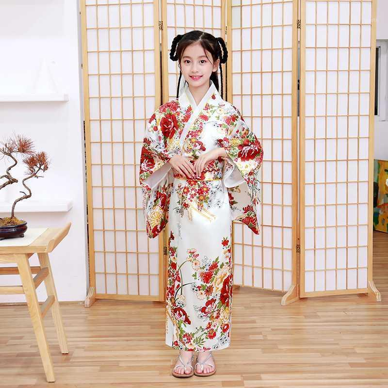 어린이 참신 코스프레 플로럴 드레스 일본 아기 소녀 인쇄 기모노 드레스 어린이 빈티지 유카타 아이 소녀 댄스 의상 1