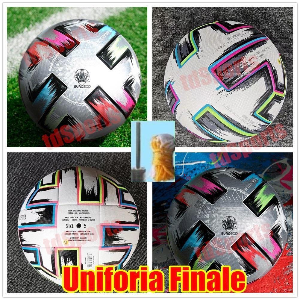 En Kaliteli 20 Euro Kupası Boyutu: 4 Futbol Topu 2021 Uniforia Finale Final Kiev PU Boyutu 5 Topları Granüller Kayma Dayanıklı Futbol Yüksek