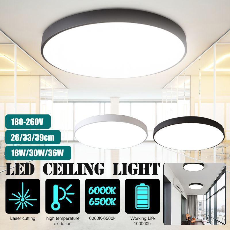 Светодиодные потолочные светильники промывают крепление современного освещения крытый круглый ультратонкий светлый дневной свет холодный белый 18W 30W 36W