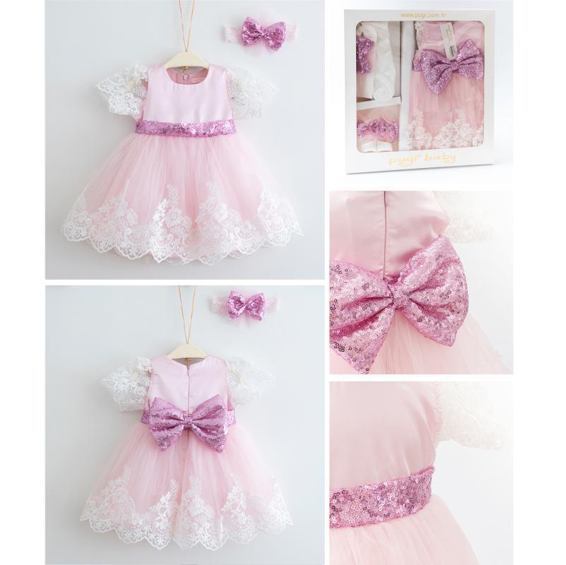 Baby Mädchen Kleid geborene Party Kostüm Säuglingskleidung Karneval Taufe Taufekleider Hochzeit Kleidung 4 Stück für 3-6 Monate Mädchen