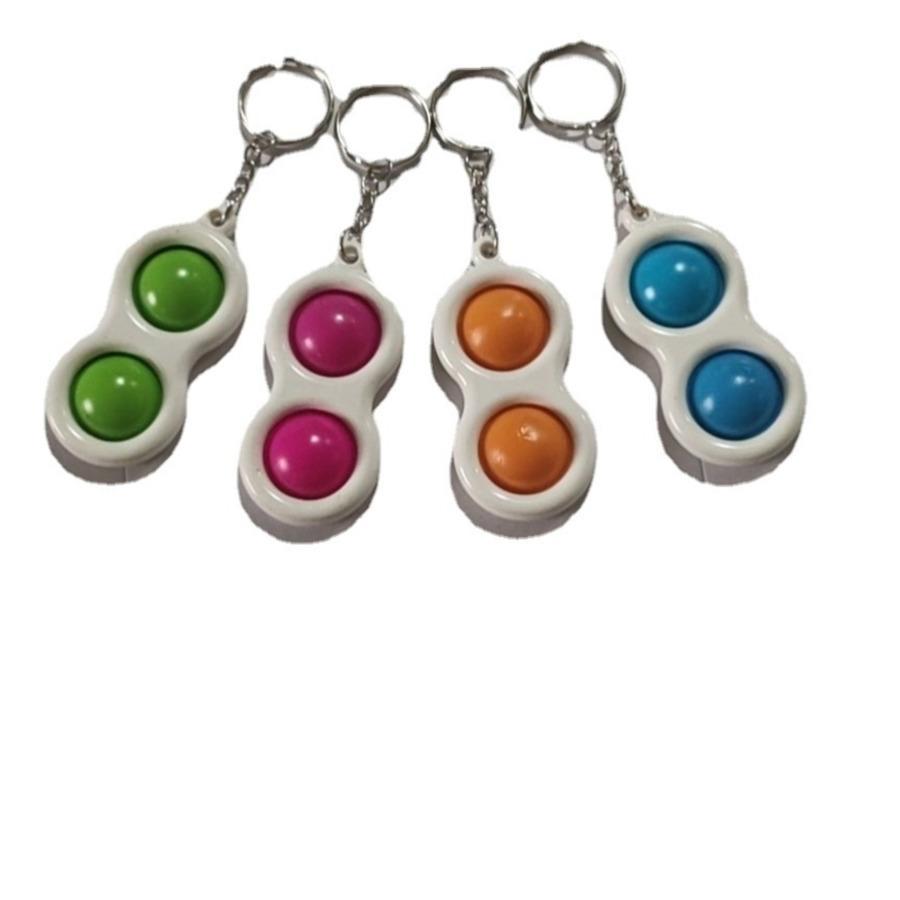 Fidget Bolha Dedo Baby Keychain Carabiner Brinquedos Acessórios Crianças Moda Ansiedade Stress Reliever Board Game Saco Pingente H33L3VW