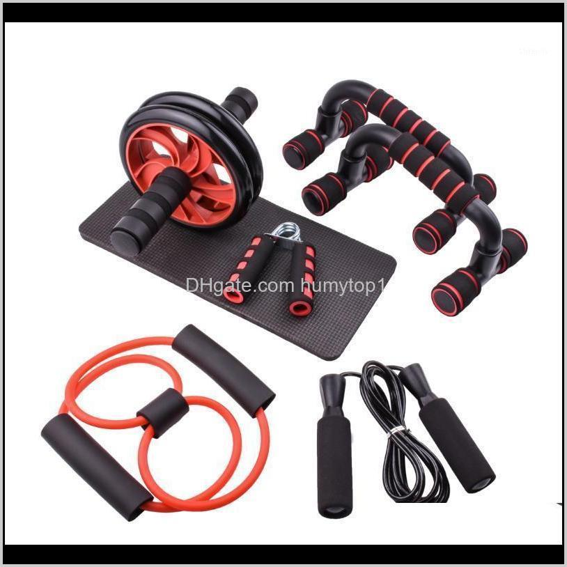 Pushup Bar Ab Power Wheels Roller Machine Jump Rope Exercise Workout Home Gym Fitness Abdominal Muscle Trainer1 Ksetg 8Mrfy