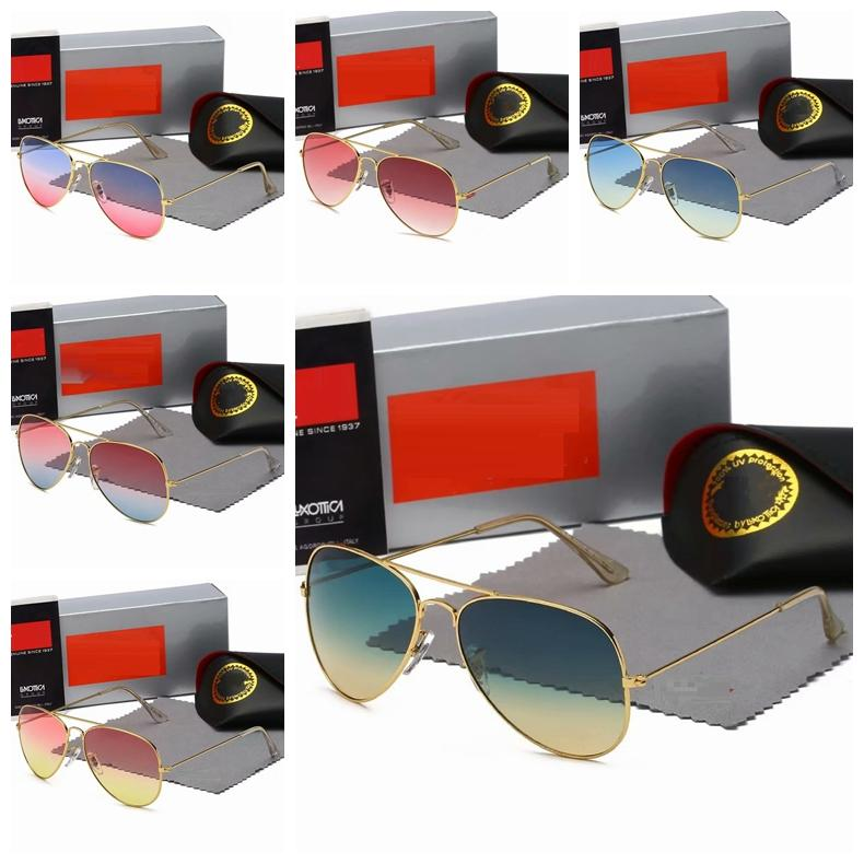 Bland luxury designer Aviator pilot classic sunglasses With logo Top quality for Men Women Fashion sun glass ocean sea UV400 3025 Original Box and Case