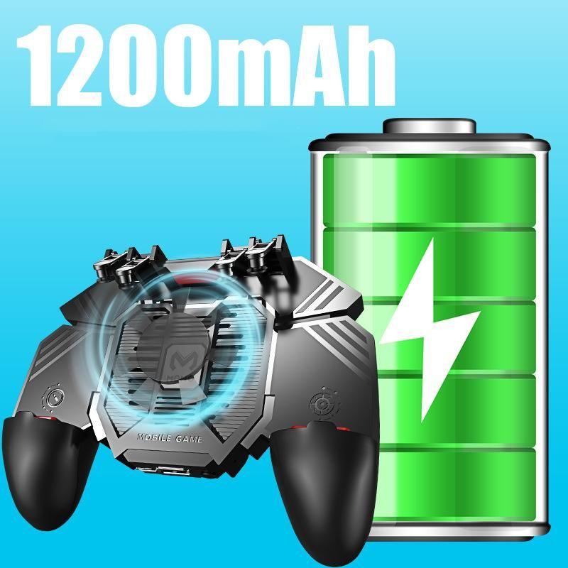 Sensitive Mobile Game Controller Gamepad con telefono Radiatore ventilatore Grip 6 Finger TriggerJoySTICK per i controller PUBG Joysticks