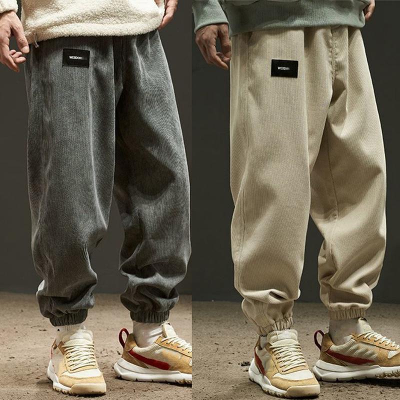 Pantalones para hombres Hombres casuales estilo planchoso pantalones sueltos moda al aire libre 2021 Cómodo harem gran tamaño pantalones de hombre