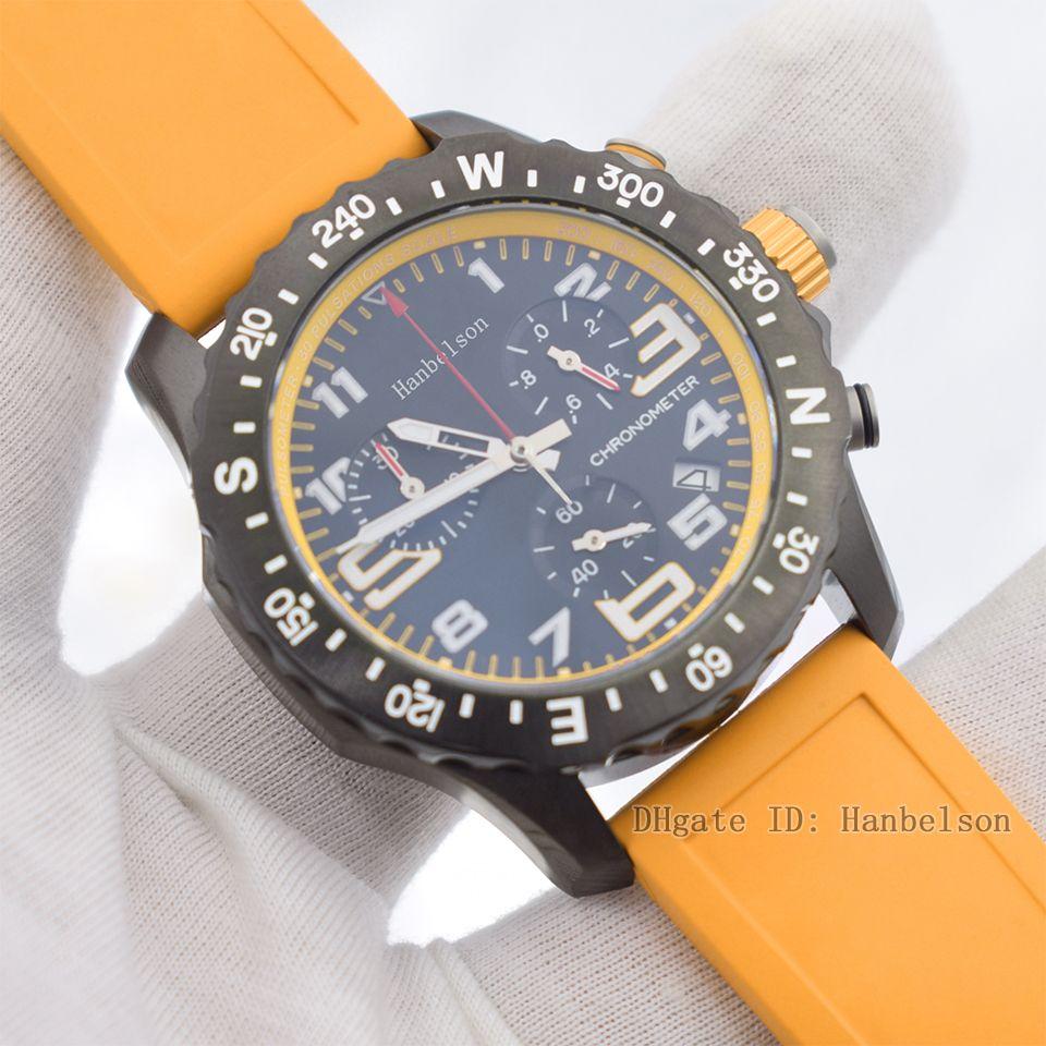 F1 Montre de Luxe VK Kuvars Hareketi Erkek İzle Safir Yüzey Paslanmaz Çelik Aydınlık Sarı Arama Kauçuk Kayışı Relojes Lujo Para Hombre Chronograph Saatler