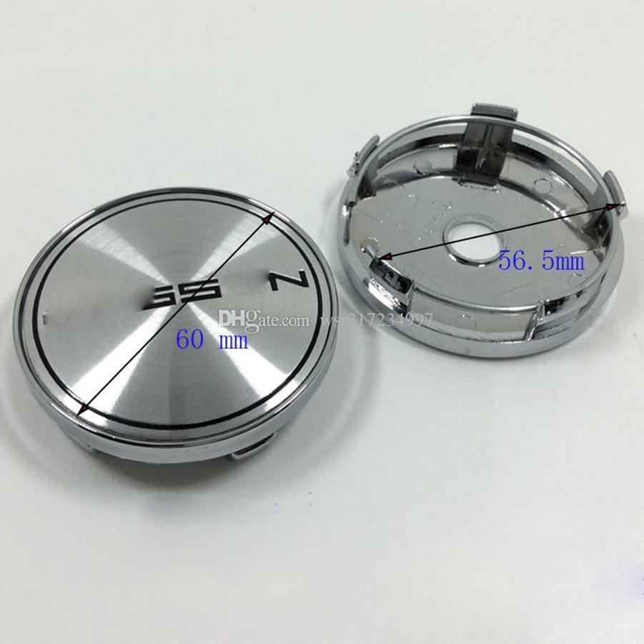 4 قطعة / الوحدة عجلة مركز قبعات يغطي ملصقات تعديل ل v ossen cv3 cv5 60mm الأسود / الفضة سيارة التصميم